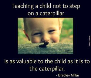 MOTIVATE child and caterpillar