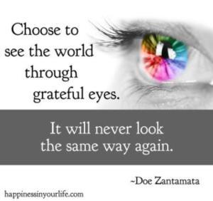 MOTIVATE grateful eyes rainbow