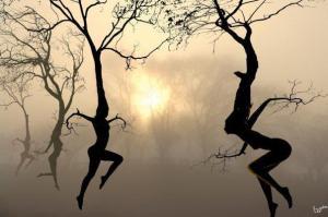 WOMEN dancing trees