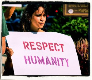 RESPECT HUMANITY SIGN