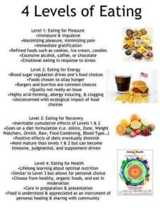 HEALTH 4 levels of eating
