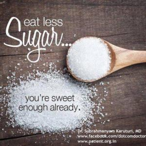 eat less sugar