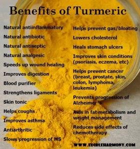 HEALTH FOOD benefits of tumeric