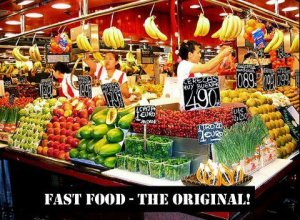 HEALTH fresh food vs fast food